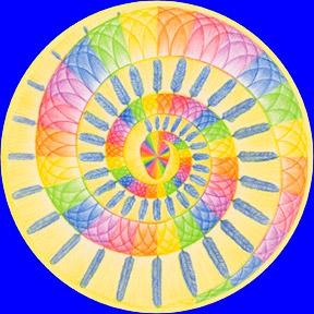 EnergieAufkleber -  gefiederte Regenbogenschlange