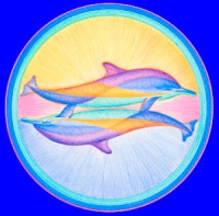 EnergieAufkleber - DelphinpaarMandala